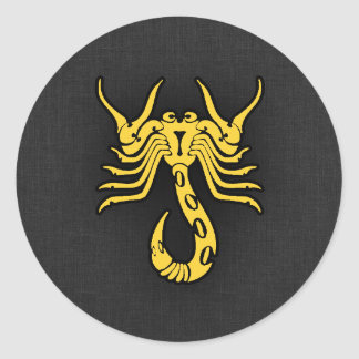 Escorpião ambarina amarela adesivo