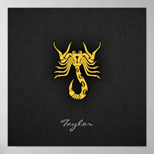 Escorpião ambarina amarela poster