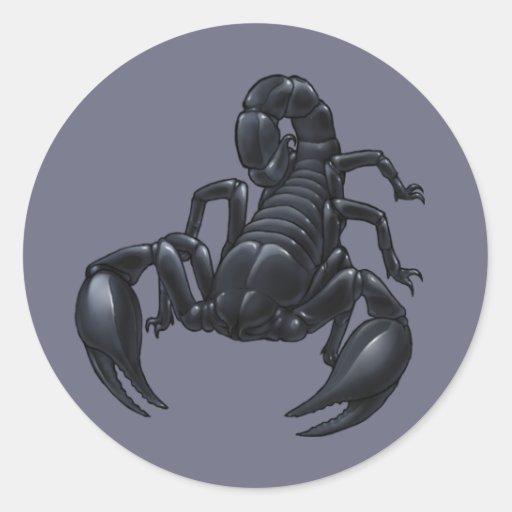 Escorpião Adesivos Redondos