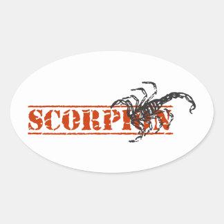 Escorpião Adesivos Em Formato Oval