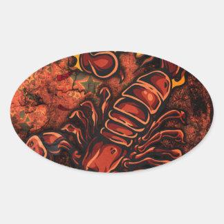 Escorpião Adesivos Oval
