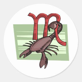 Escorpião Adesivo Em Formato Redondo