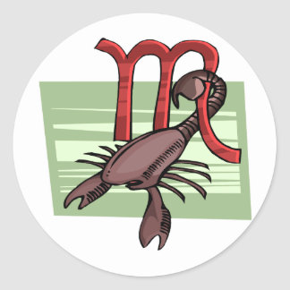 Escorpião Adesivos Em Formato Redondos