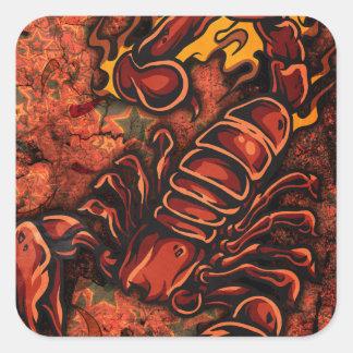 Escorpião Adesivo Quadrado