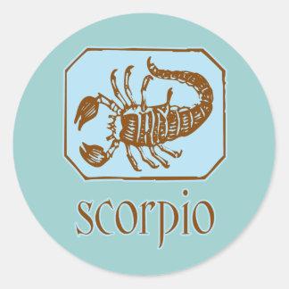 Escorpião azul antiga adesivo