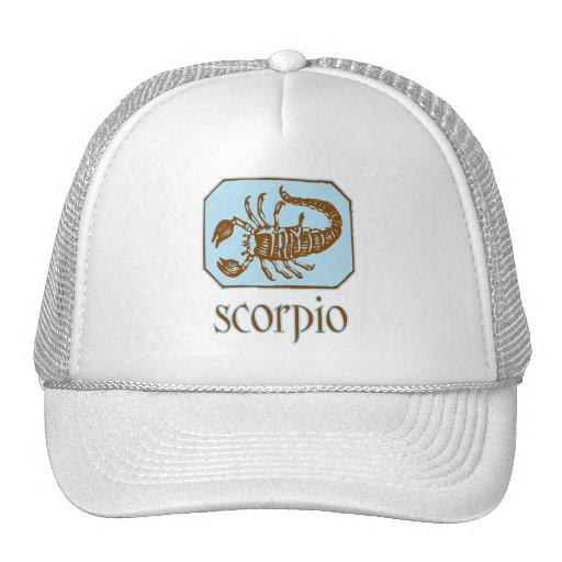 Escorpião azul antiga boné
