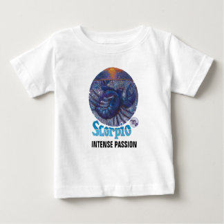 Escorpião - camisa do bebê do zodíaco