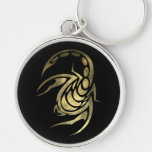 Escorpião da Escorpião do ouro Chaveiros