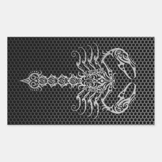 Escorpião de aço da malha adesivo em forma retangular