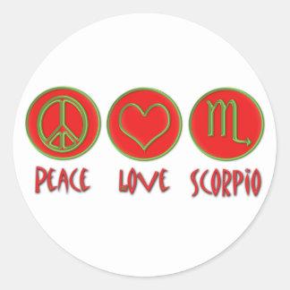 Escorpião do amor da paz adesivo