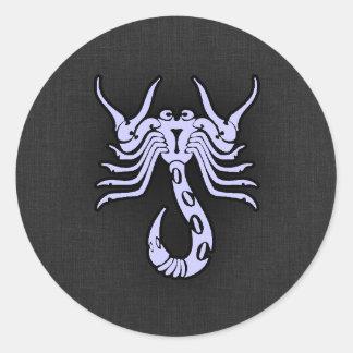 Escorpião do azul da lavanda adesivo