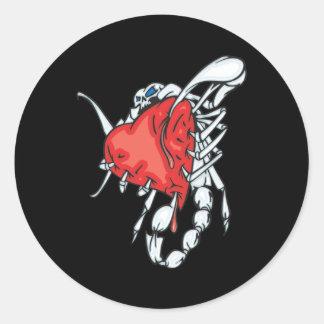 Escorpião do coração adesivo