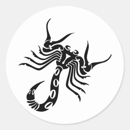 Escorpião do escorpião adesivo em formato redondo