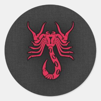 Escorpião do vermelho carmesim adesivo