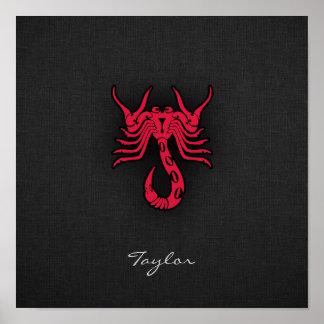 Escorpião do vermelho carmesim impressão