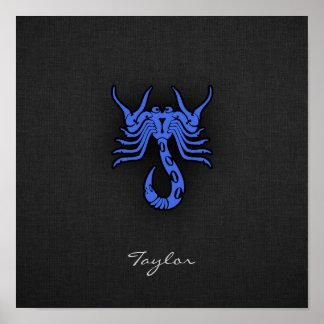 Escorpião dos azuis marinhos poster