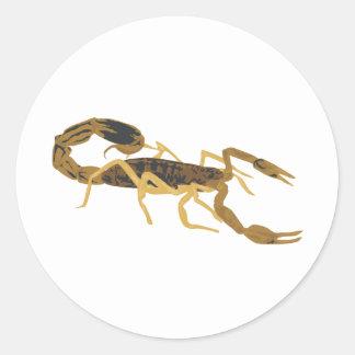Escorpião dourado de Brown Adesivo