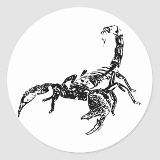 Escorpião - etiqueta adesivo