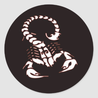 Escorpião na noite adesivo