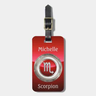Escorpião - o sinal do horóscopo do escorpião etiqueta de bagagem