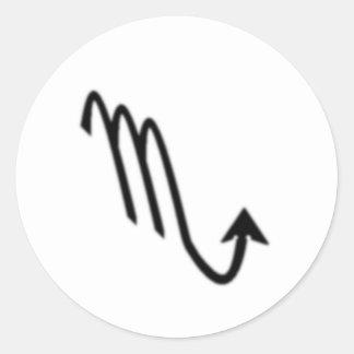 Escorpião, sinal do zodíaco adesivos em formato redondos
