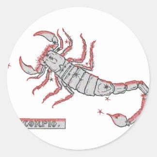 Escorpião - Skorpion Adesivo Redondo