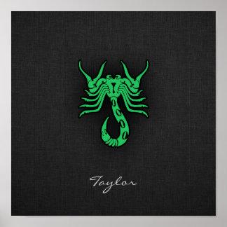 Escorpião verde de Kelly Posters
