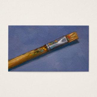 Escova de pintura do artista, arte, negócio do cartão de visitas
