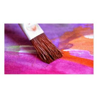 Escova de pintura do artista modelo cartoes de visitas