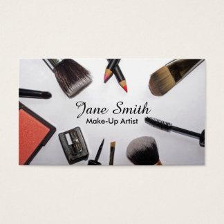 Escovas e cartões de visitas do artista de