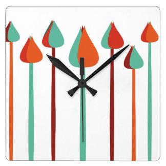 Escovas Relógio Quadrado