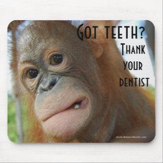 Escove seu humor do dentista dos dentes mouse pad