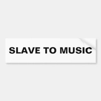 Escravo abundante à música adesivo
