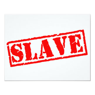 Escravo Convites Personalizado
