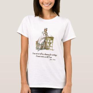 Escreva diz sobre Jane Austen Camiseta
