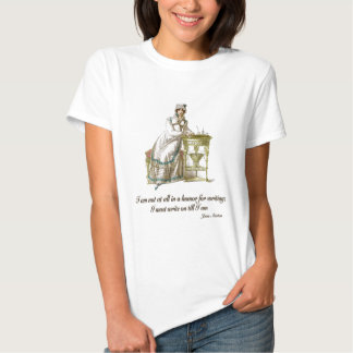Escreva diz sobre Jane Austen Camisetas