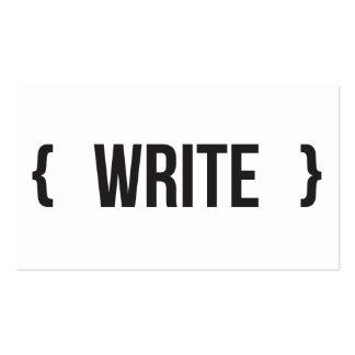 Escreva - suportado - preto e branco modelos cartões de visita