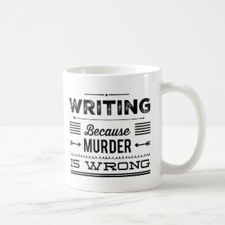 Escrevendo porque o assassinato é a caneca errada