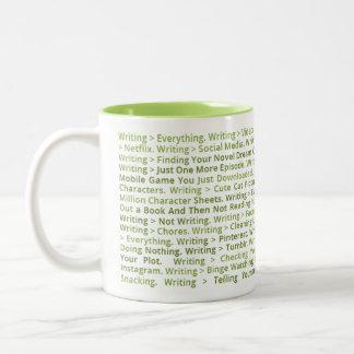 Escrevendo > tudo caneca (verde)