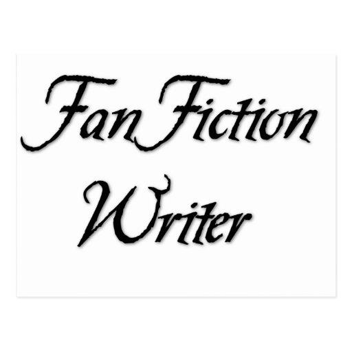 Escritor da ficção de fã cartoes postais
