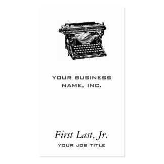 Escritor da máquina de escrever do Underwood Cartão De Visita