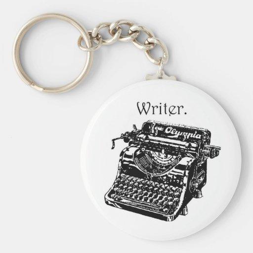 Escritor da máquina de escrever chaveiro