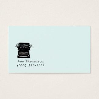 Escritor, editor, cartão de visita da máquina de