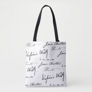 Escritores das mulheres bolsa tote