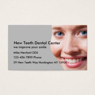 Escritório do dentista cartão de visitas