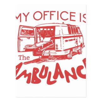 escritório do paramédico cartão postal