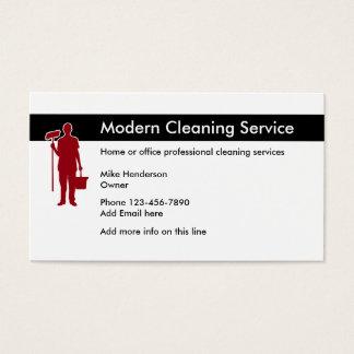 Escritório e limpeza Home Cartão De Visitas