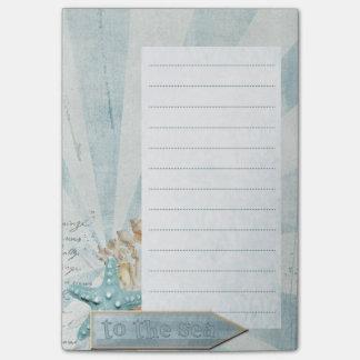 Escritório - estrela do mar - praia bloquinho de notas