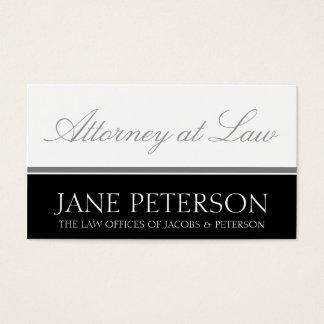 Escritório legal da empresa de advocacia do cartão de visitas