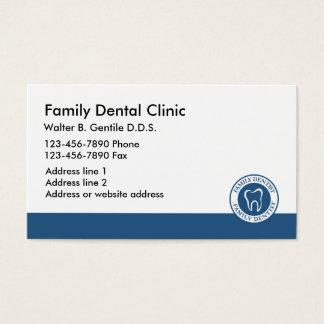 Escritório novo do dentista eles cartão de visitas